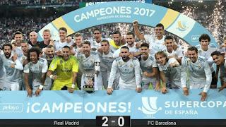 FÚTBOL - El Real Madrid es supercampeón de España por décima vez con impecable superioridad ante el Barcelona