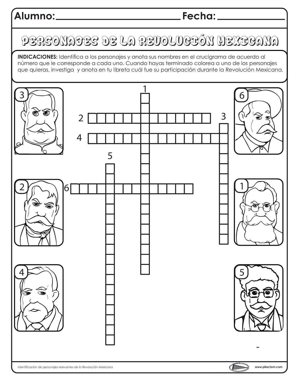 Identificación De Personajes De La Revolución Mexicana
