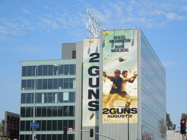 Giant 2 Guns movie billboard Highland Avenue
