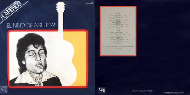 Antonio Agujetas en su primer disco Niño de Agujetas 1979