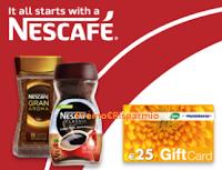 Logo Con Nescafè Solubile vinci 300 Gift Card da 25€