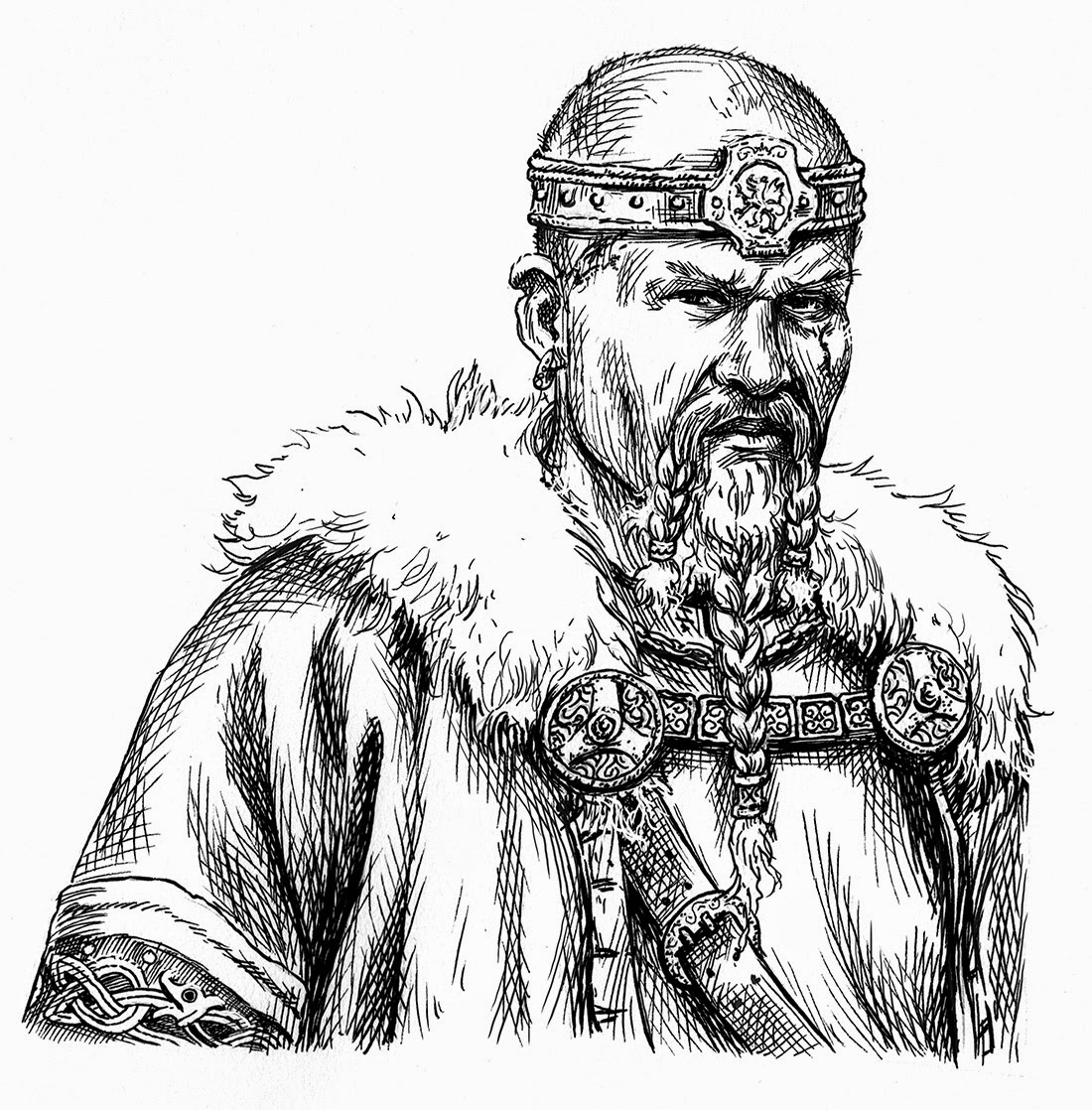 It's just a picture of Dramatic Drawing Of Medieval King