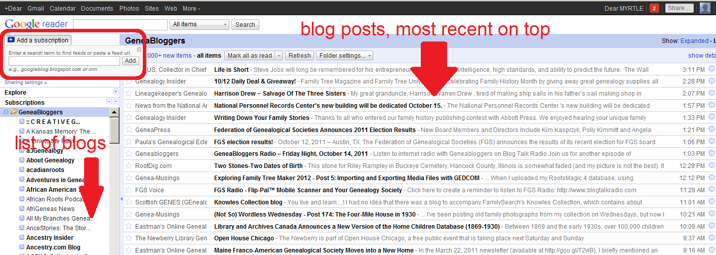 DearMYRTLE's Genealogy Blog: On hiatus, but giving you an