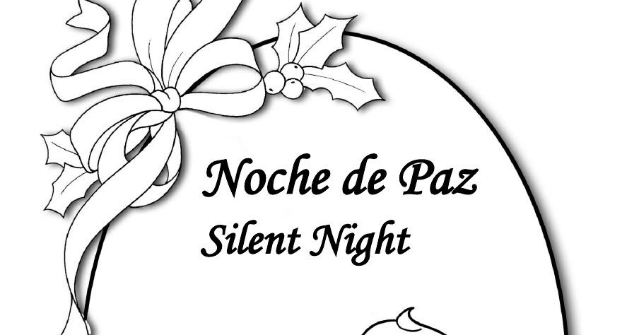 PARA COLOREAR: Noche de paz para colorear
