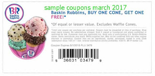 Baskin Robbins coupons march 2017