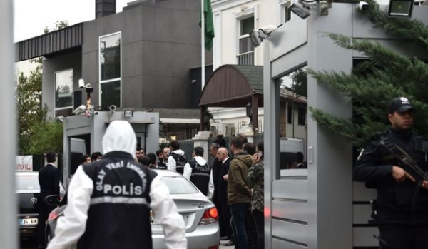 الشرطة التركية، تفتش مقر القنصلية السعودية في اسطنبول.
