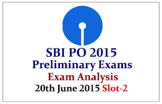 SBI PO 2015- Preliminary Exam Analysis