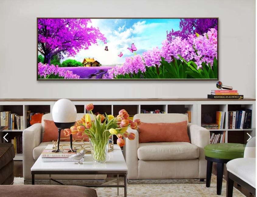 Tranh treo tường phong cảnh hoa mùa xuân cho phòng khach đẹp