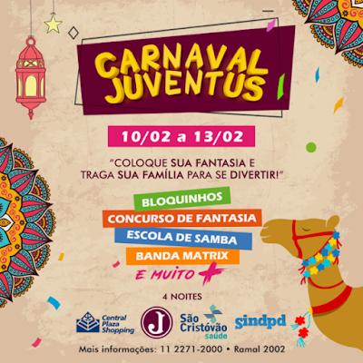 Associados do Sindpd podem aproveitar o Carnaval do Juventus de graça!