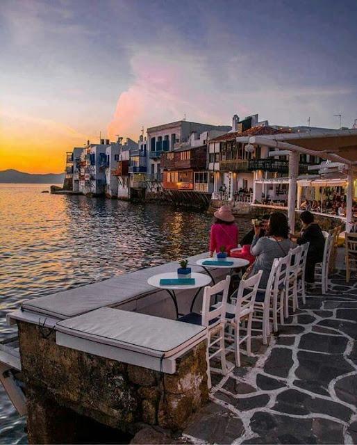 Little Venice, Mykonos Greece