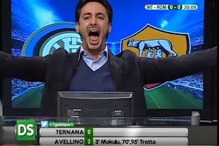 Inter Empoli commento Filippo Tramontana telecronisti tifosi Direttastadio video