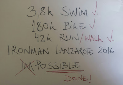 Ironman Lanzarote 2016 - Done!