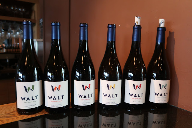 A selection of wines from WALT's portfolio.