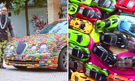 Datuk Seri Mahadi Badrul mengoleksi mobil mainan Hot Wheel