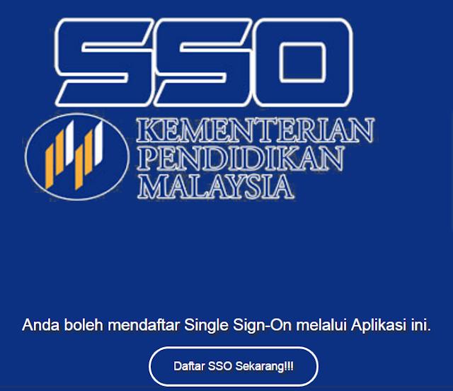 SSO Single-Sign-On Kementerian Pelajaran Malaysia KPM