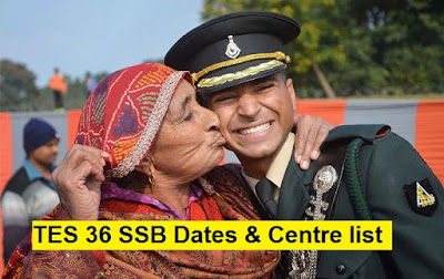 TES 36 (10+2) 2016  SSB Dates & Centre Allotment