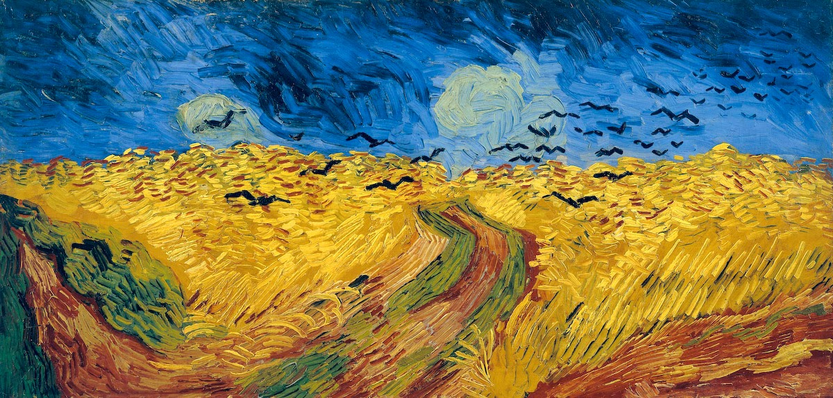 Wheatfield with Crows