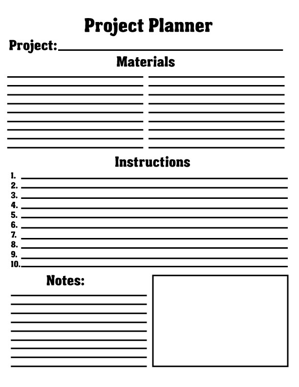 Project planning sheet - printable Blog Stuff Pinterest - fresh proper letter format how many spaces