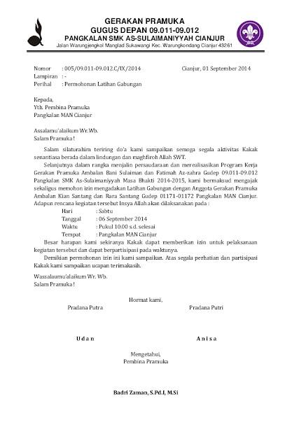 Contoh Surat Pemberitahuan Kegiatan Ekstrakurikuler Pramuka, Cara Menyusun Surat Pemberitahuan Kegiatan Ekstrakurikuler Pramuka, Format Surat Kegiatan Ekstrakurikuler Pramuka