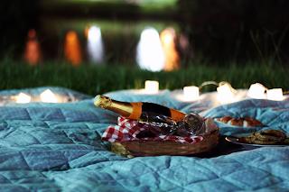 Resultado de imagem para piquenique romantico noturno