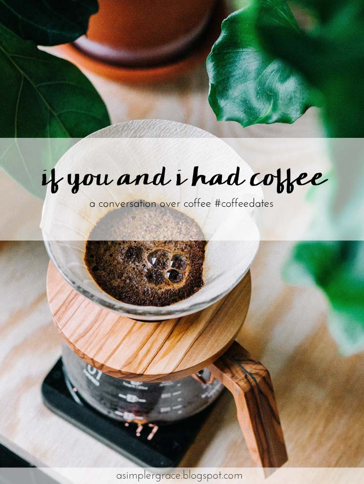 Join me for a conversation over coffee? #coffeedates