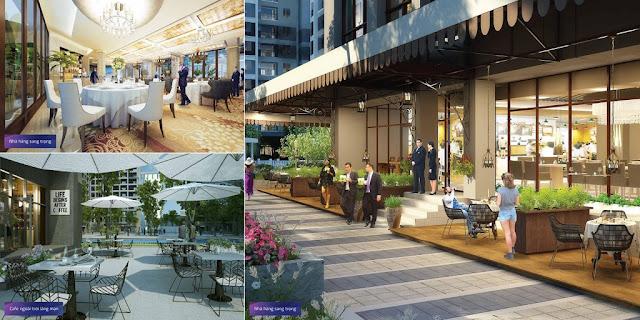 Khu ẩm thực, cafe sang trọng tại chung cư Mon Central