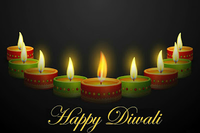Beautiful Burning Diwali Candles _ Happy Diwali Images