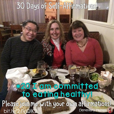 "30 Days of Self-Affirmations: Day 20: I am committed to eating healthy! For 30 days, I will be celebrating my own ""new year"" with self-affirmations. If you are interested in joining me, feel free to write your own affirmations here, or respond on my social media here: http://bit.ly/2JuKRWa  See blog post here:  http://bit.ly/2JVQlK2"