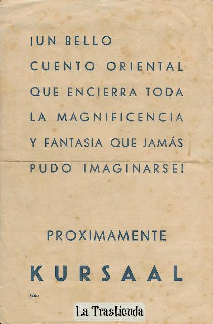 Programa de Cine - Las Mil y Una Noches - Jon Hall - Maria Montez