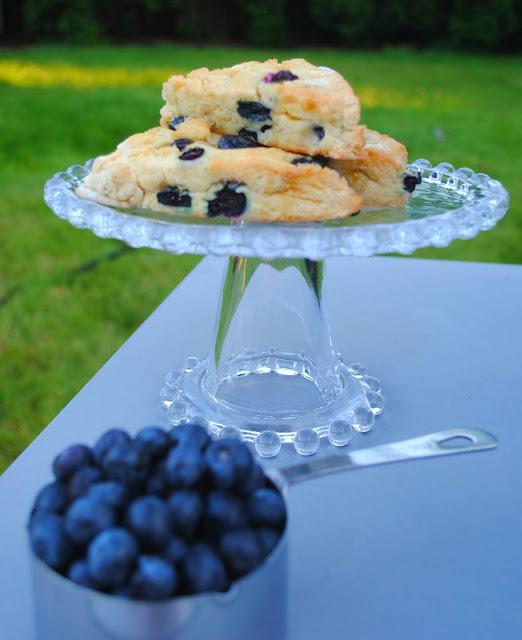 Blueberry- scones- fresh- blueberries
