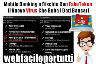 Mobile Banking a Rischio Con FakeToken  - Il Nuovo Virus Che Ruba i Dati Bancari