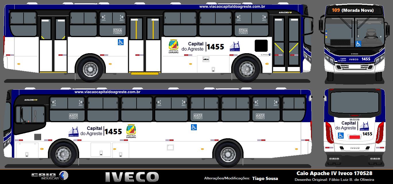 Desenho Onibus Brasil Vip Iv Capital Agreste