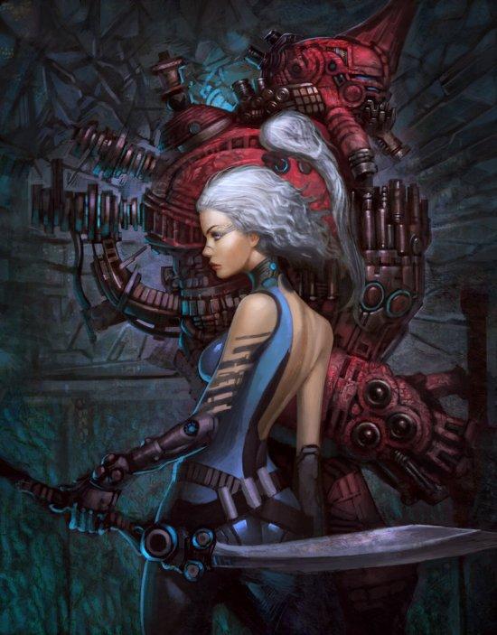 Paul Kwon zeronis deviantart ilustrações fantasia ficção científica mulheres