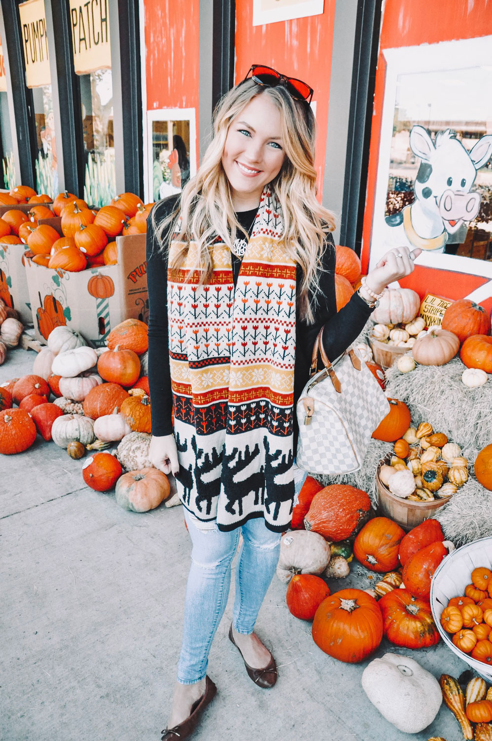 fall scarf outfit