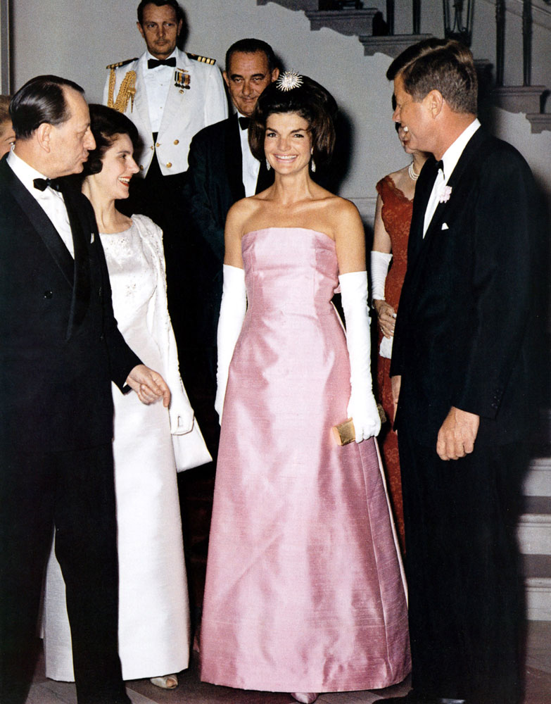 48f3cdd356ce U.S. President John Kennedy and First Lady Jackie receive French Minister  of Culture Andre Malraux at the White House in Washington