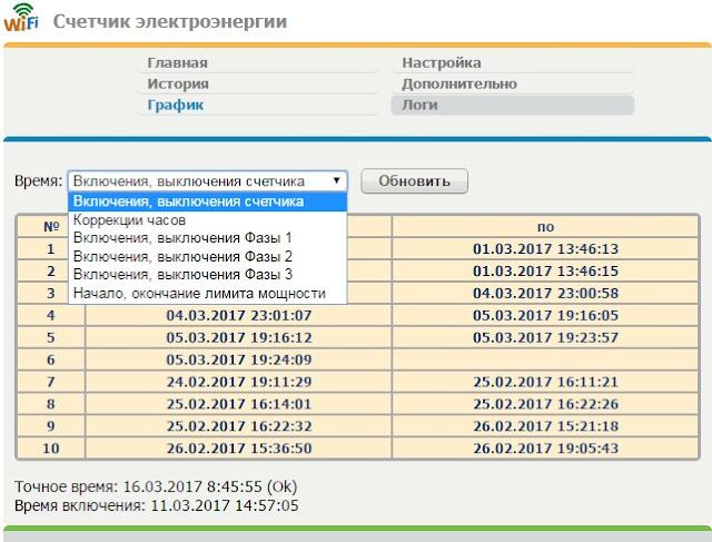 веб сервер esp8266, логи