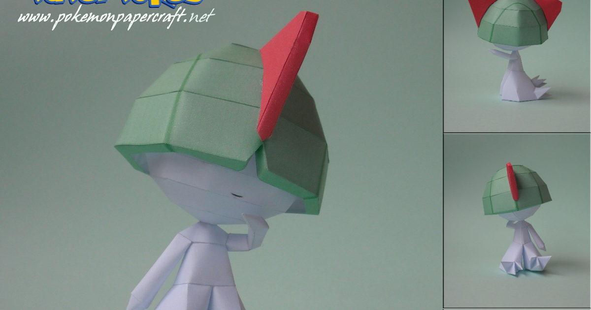 A3 Helmet Level 3 And Pan: Pokémon Papercraft: RALTS