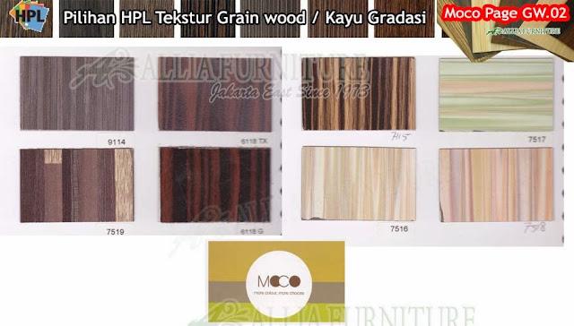 GW.02 HPL Moco motif tekstur Kayu gradasi
