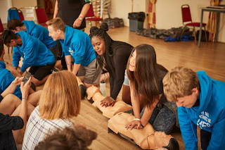 Participants in the NCS Programme, learning some First Aid