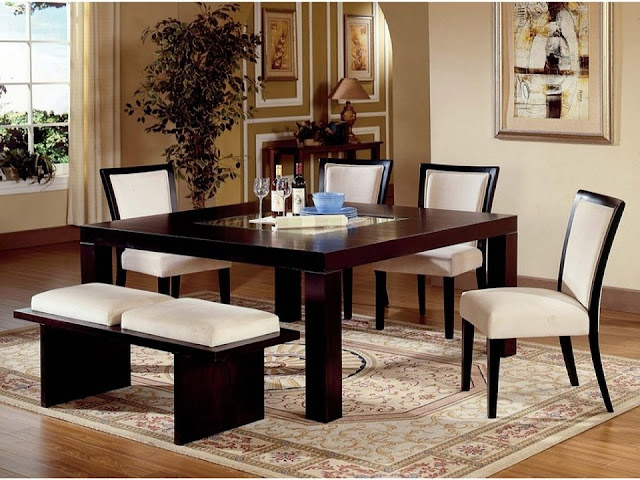 Dining Table with Modern Ergonomic Design
