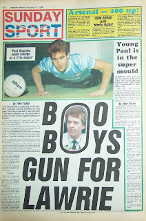 Sunday Sport Newspaper back page dated 21 Dec 86