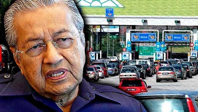 Penuhi Janji Politik, Mahathir Gratiskan dan Diskon Tarif Tol Malaysia