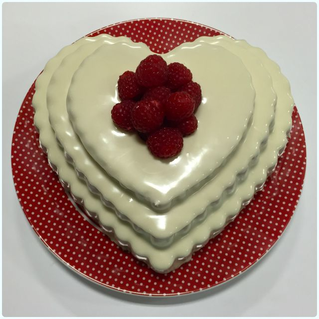 Raspberry and White Chocolate Bundt Cake