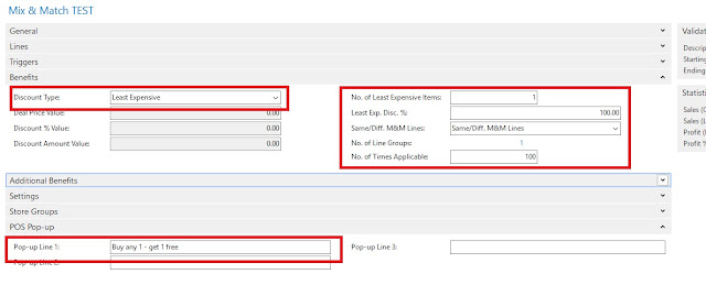 Mix and Match Discount Configuration