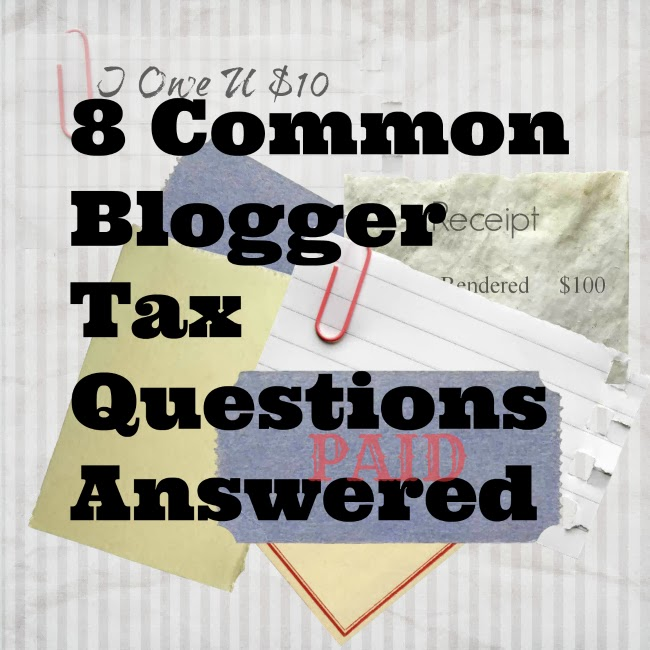 Answers to Tax Questions for blogs and freelancers, small businesses