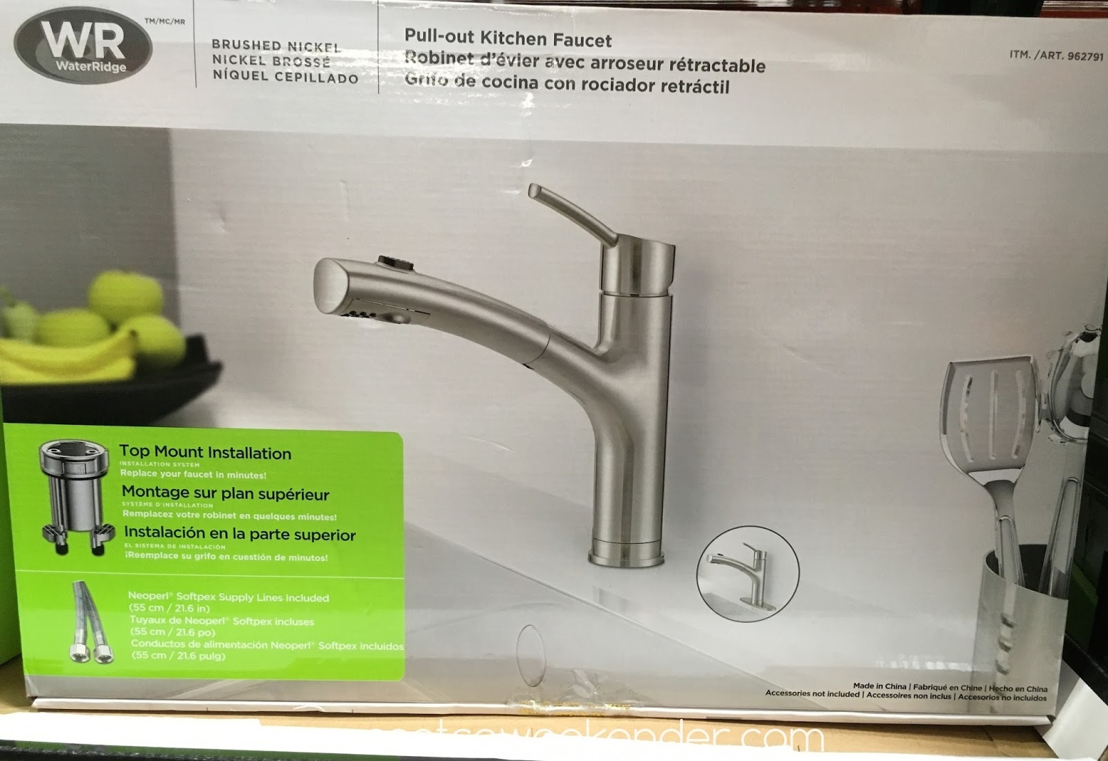 waterridge euro style pull out kitchen faucet costco costco kitchen faucet Improve your kitchen s decor with the stylish WaterRidge Euro Style Pull out Kitchen Faucet