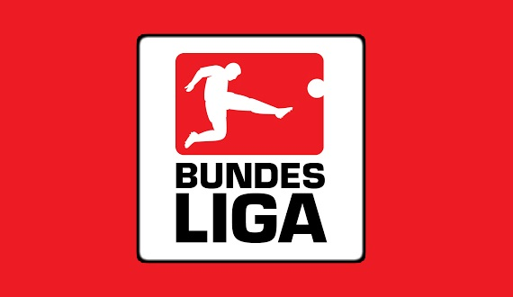 Bundesliga Logo Red Background With Black Text