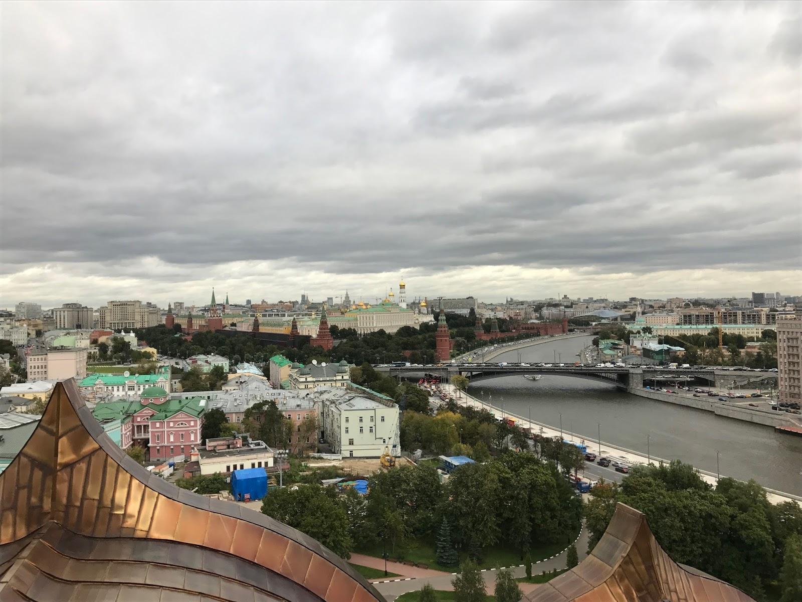 Vista da Cúpula da Catedral de Cristo Salvado - Moscou