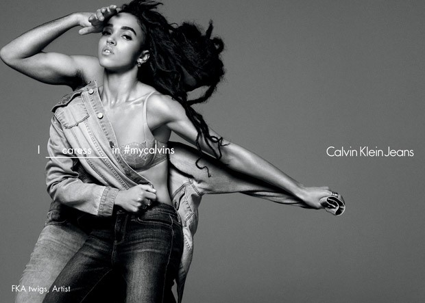 FKA twigs for Calvin Klein Jeans Spring Summer 2016