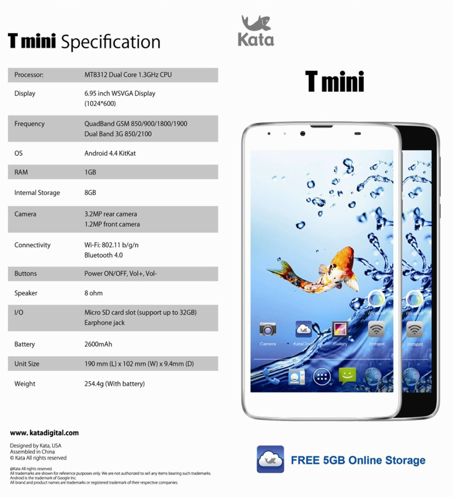 Kata T mini Tablet Specs
